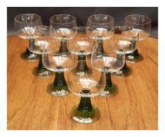 Set of 10 Claret Wine Glasses Ruwer by Schott-Zwiesel Green ...