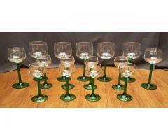 15 Piece Set of Stemware Emerald by Cristal D'Arques-Durand ...