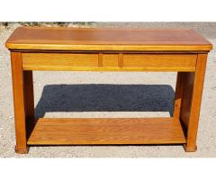 Solid Wood Oak Sofa Hallway Entry Table Accent