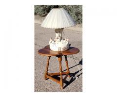 Southwestern Old Pueblo Scene Pottery Lamp Signed Native Ame...