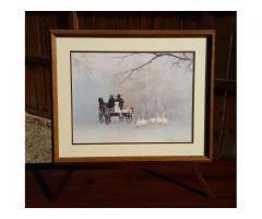 """Going Home"" by Steve Polomchak Framed and Matted Print Hors..."