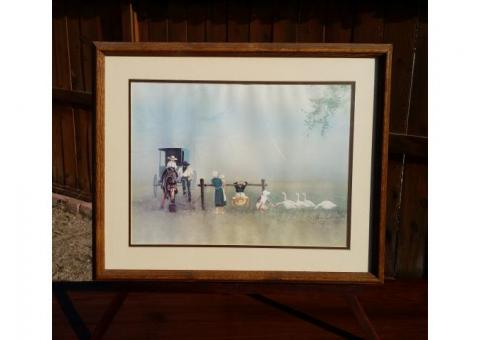 """Happiness Is"" by Steve Polomchak Framed & Matted Print Horse Buggy"