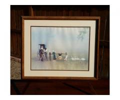 """""""Happiness Is"""" by Steve Polomchak Framed & Matted Print Hors..."""