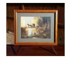 Al Koenig 1992 Framed & Matted Print Horse & Buggy Bridge Fi...