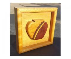 3 D Wood Art by Enzmann 1985 Apple Kitchen
