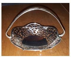 Silverplated Small Decorative Basket West Germany Beautiful