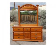 7 Drawer Dresser w/ Mirror Southwestern