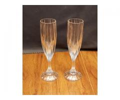 2 Crystal Champagne Flutes Park Lane by Mikasa