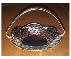 Silverplated Small Decorative Basket West Germany Beautiful