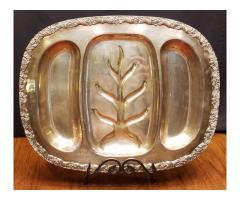King Edward Silverplate 3 Part Meat Platter Tray #7713 Moss ...