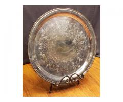 """Concord Silverplate 14"""" Round Serving Tray by International ..."""