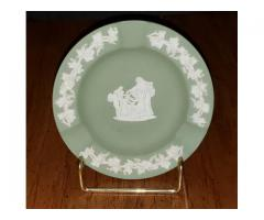 Wedgwood Jasperware GreenAshtray Cupid Oracle Trinket Dish