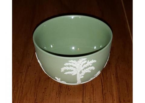 Wedgwood Jasperware Green Mini Open Sugar Bowl